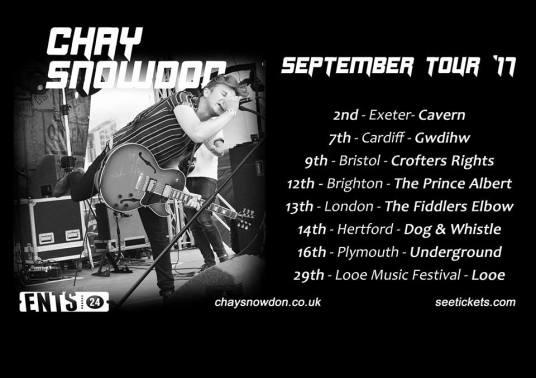 Chay Snowdon tour