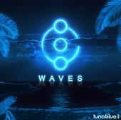 luna blue waves artwork